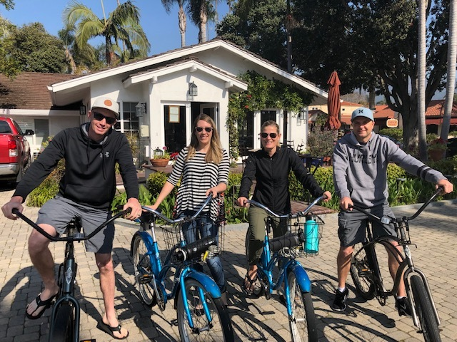 Biking Santa Barbara with free bicycle rentals from Marina Beach Motel